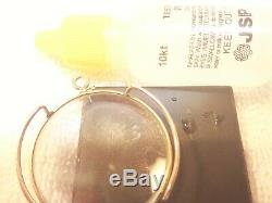10k Solid Gold German Monocle With The Original Leather Case! Custom Made