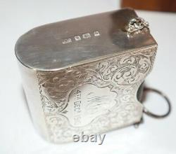1910 Book of Common Prayer & Hymns Miniature 2 Vols in 1 Silver Case Birmingham