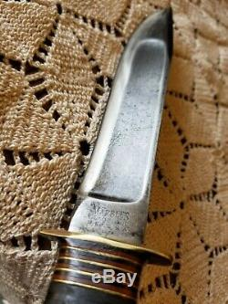 1911 Vintage Large Marble's Stamp Rare Antique Stag 8 Bowie Case 24 Spacers MSA