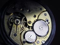 1914 Antique Watch Original Gun Steel Case Original Swiss Branded Movement
