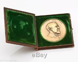 1920 CARNEGIE HERO FUND AWARD MEDAL- BRONZE with ORIGINAL LEATHER CASE