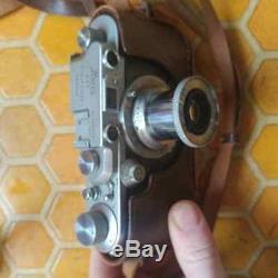 1938 Leica IIIa with 1950 Elmar (I) f=5 cm 13.5 Lens and Original Leather Case