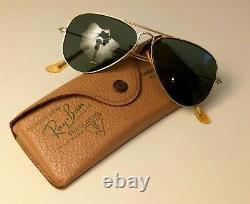 1940s rayban AVIATOR size 1 GOLD 12K pilot sunglasses leather case