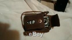 1949 Glen Flex subminiature spy camera. Works. Original leather case too
