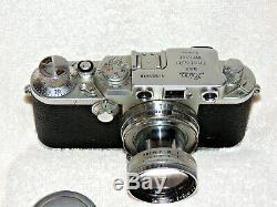 1951 Leica D. R. P. Ernst Leitz Wetzlar Camera #597878 Summitar Lens f=5cm 12
