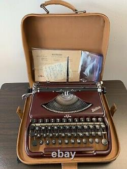 1955/6 Groma Kolibri with American QWERTY, Leather Case & Original Manuals