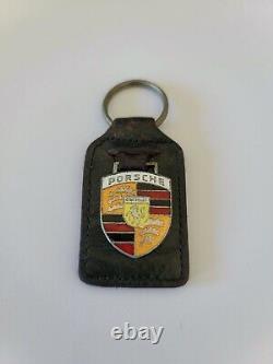 1958 1974 Porsche 911 356 Leather Key Ring Case Fob Original Vintage Rare