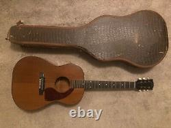 1958 Gibson LG-0 Acoustic Guitar Natural (with Original Alligator Leather Case)