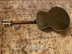 1958 L-48 Gibson Guitar and original 5 Latch Leather Case with Pink Lining