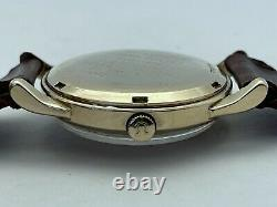 1958 Omega Automatic Oxg Original Dial 14k Solid Gold Case Gx6558 Original Box