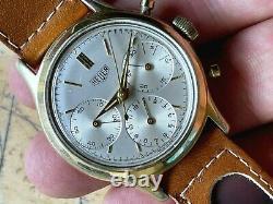 1961 HEUER Chronograph ref. 2445 Valjoux 72 Original Dial 36mm Case ALL ORIGINAL
