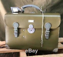1975 Swiss Army Big Medical Case Bag Leather Vintage Military original