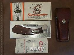 1981 Case Sidewinder Knife Rosewood With Leather Sheath Exceptional Condition