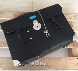 1987 Swiss Army Big Medical Case Bag Leather Vintage Military original