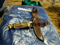 1988 Case XX Stag Kodiak Stag Handle Knife With original Leather Sheath nice