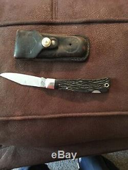1998 HARLEY DAVIDSON HD-2 KNIFE With LEATHER CASE