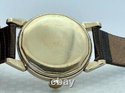 50's Tissot Automatic Bumper Solid 14K Gold Case 35.5Gr Screw Back Original Dial