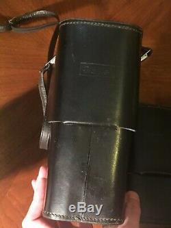 5 Original 1960s Black Leather Lens Accessory Cases Rollei SL 66