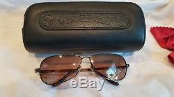 AUTHENTIC Chrome Hearts RED Sunglasses Leather case