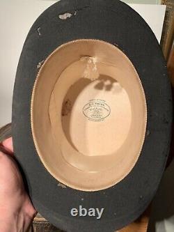 A. J. White Jermyn STT Silk Top Hat/Leather Carry Case Vintage AntiqueBEST OFFER