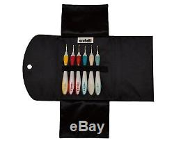 Addi Swing Crochet Hooks MEGA Set of 20 Hooks With Original addi Leather Cases