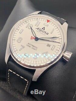 Alpina Startimer 44mm Pilot Automatic Steel Case White Dial 10 Atm Al-525s4s6
