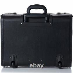 Alpine Swiss 19 Wheeled Briefcase Rolling Case Sales Sample Pilot Lawyer Attache