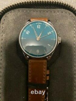 AnOrdain New Model 1 Watch Teal New in Original Case Hand Crafted Enamel Dial