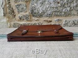 An Antique Vintage Leather Briefcase Attache Case