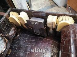 Antique Crocodile Skin Case Finnigans New Bond Street London P868 1