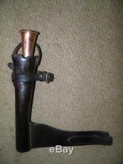 Antique Fox Hunting Horn BySWAINE ADENEY KOHLER & Original Leather Horn Case