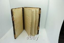Antique Glass Beaded Notepad Leather&Beads Letters Pocket Beadwork Bag Pen Case