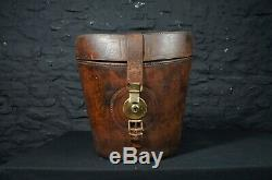 Antique Leather Tall Top Hat Case Decorative Storage Country House Decor