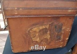 Antique Silk Plush Top Hat Knox John T. Shayne Co. With Leather Case