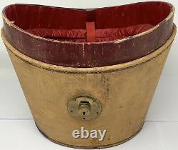 Antique Youmans Black Silk Top Hat Size 6-7/8 with Antique Leather Hat Case