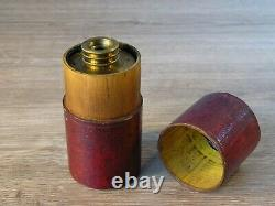 Antique c. 1800 Rare Withering Botanical Microscope + Original Leather Bound Case