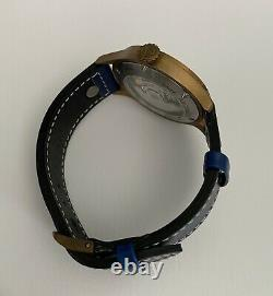Archimede Pilot 42 Bronze Case with Blue Dial Blue Strap