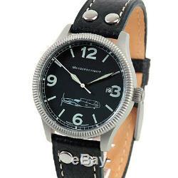 Aristo Messerschmitt Swiss Quartz Pilot Watch, 40mm Case, Coin Edge #ME109-41S