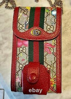 Authentic Gucci Flora Crossbody Phone Case Wallet With ALL Original Packaging