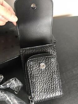 Authentic MCM Visetos Original Crossbody Black Leather Smartphone & Card Case