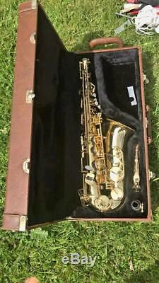 BLESSING ELKHART, IND Alto Saxophone in original leather case