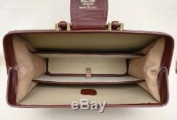 BROOKS BROTHERS PEAL & CO Vintage Briefcase Black Leather Case Doctors Bag