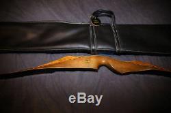 Bear Super Kodiak Recurve Bow 1970 45# 60 Original Leather Case and Tag