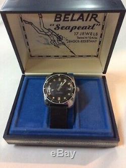 Belair Seapearl 600 Vintage Divers 20 ATM Watch #1551 Original Case and Owner