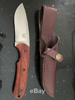 Benchmade Snody Design 201 Activator Winewood Handle Knife Leather Case Used