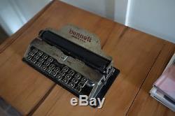 Bennett Portable Typewriter with original leather case