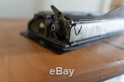 Bennett Portable Typewriter with original leather case