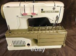 Bernina Record 730 Sewing Machine feet, bobbins, original case, manuals