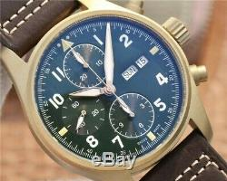Best Edition Pilot Style Real Bronze Case Chronograph Custom Made Watch