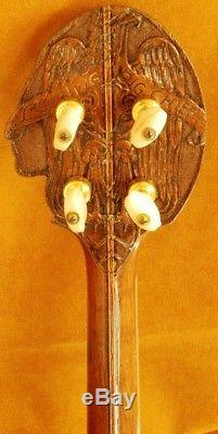 Big Chief Banjo & original leather case by Ludwig, ULTRA-RARE! Ca. 1930